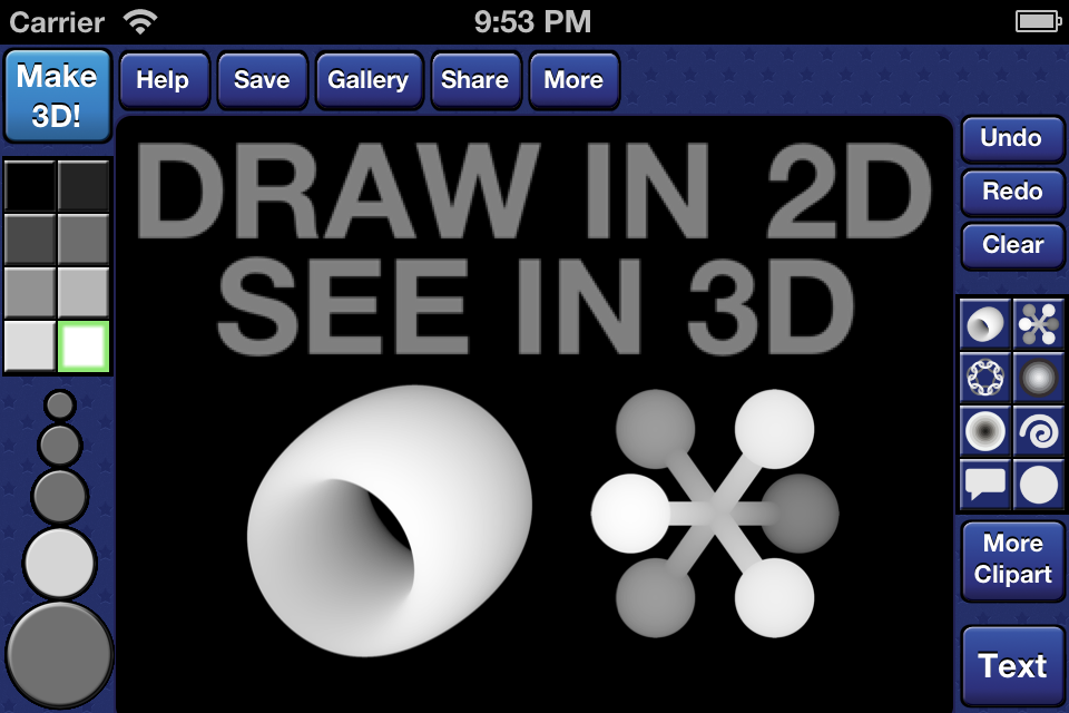 Screenshot Draw 3D! Pro